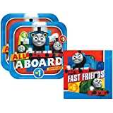 Amscan Thomas the Tank Engine Party Pack for 16 Guests - 16 Dinner Plates and 16 Luncheon Napkins