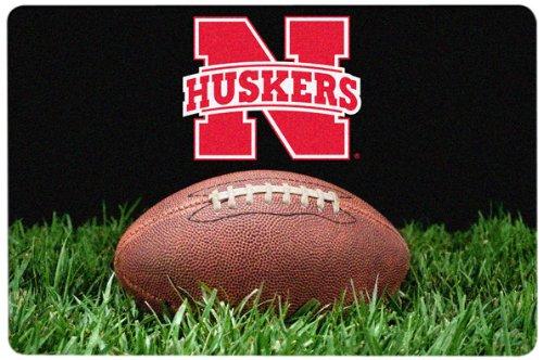 NCAA Nebraska Cornhuskers Classic Football Pet Bowl Mat, Large Game Wear Inc. CPM-CFB-NEC-L