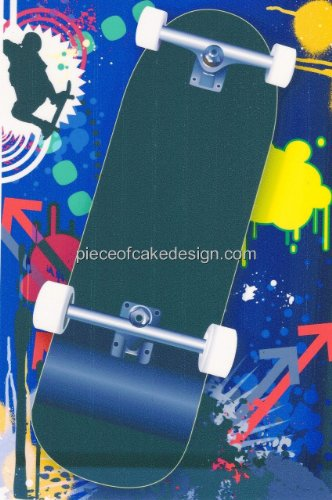 Price comparison product image 1/4 Sheet ~ Skateboard Birthday ~ Edible Cake/Cupcake Topper!!!