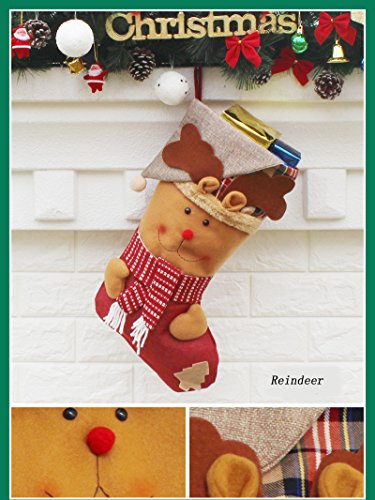 AnciTac Christmas Stockings Hanging Set 17'' Large Bags, Bulk Stocking Kit for Xmas Tree or Fireplace Decoration(Type A) by AnciTac (Image #4)