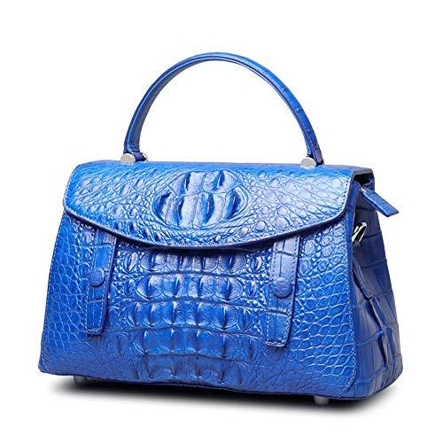 Dames Tendance C à Fashion Main Diagonal WWAVE Noir blue Croco Main épaule à pour Sac Cuir Sacs en Classique nFpgqI