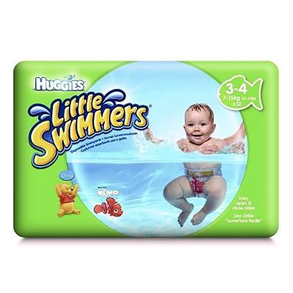 Huggies pañal para nadar Litttle nadadores activos 3-4 meses (7 - 15 kg