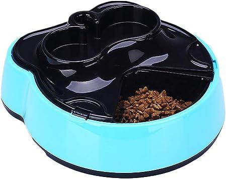 XDYFF Dispensador de Comida para Mascotas Perros Gatos Fuente de Agua Recipiente para Comida para Mascotas Seco, Anfibio húmedo con Pantalla LCD Digital Temporizador y Registro de Voz,Blue: Amazon.es: Deportes y aire