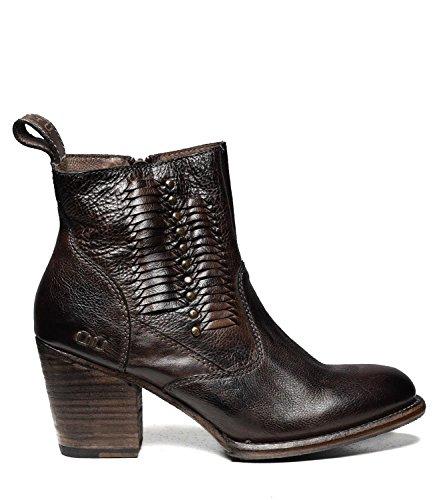 Bed|Stu Women's Shrill Leather Ankle Bootie (8 B(M) US, Tiesta Di Moro Dip Dye)