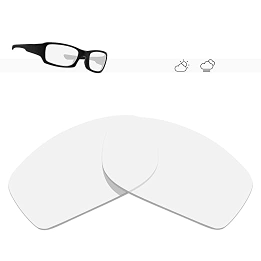 daa3687109 Glintbay 100% Precise-Fit Replacement Sunglass Lenses for Oakley Fives  Squared - Crystal Clear