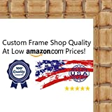 20x30 Bamboo Natural Wood Picture Frame - UV Acrylic, Foam Board Backing, & Hanging Hardware Included!