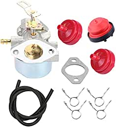 Butom 640052 640054 640349 Carburetor with Fuel Line Primer Bulb for Tecumseh...