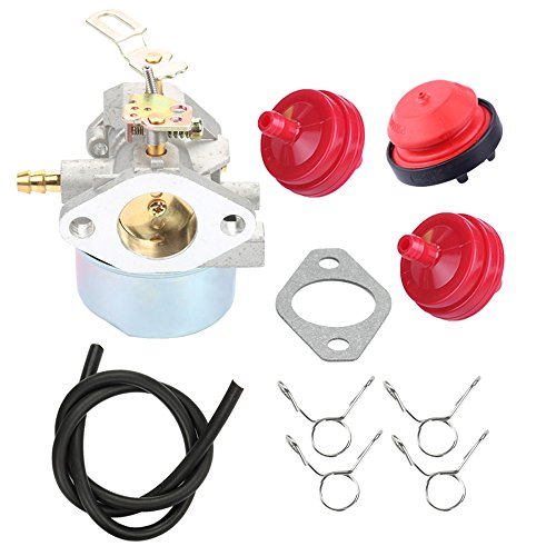 (Butom 640052 640054 640349 Carburetor with Fuel Line Primer Bulb for Tecumseh HMSK80 HMSK90 HMSK100 HMSK105 HMSK110 8hp 9hp 10hp LH318SA LH358SA for Toro Snow Blower Generator Chipper Shredder)