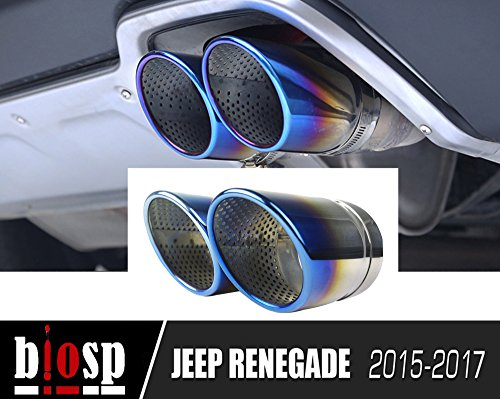 Flange Mount Die (Jeep Renegade 2015 2016 2107 Auto 2pcs Tail Muffler Stainless Steel Slant Burnt Exhaust Pipe Tip Pipe Fit Pipe,blue)