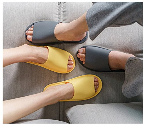 TELLW Bathroom Slippers for Male Female Summer Home Indoor Anti-Slip Thick Bottom Cool Slippers Men Gray sWiFGJRcnC