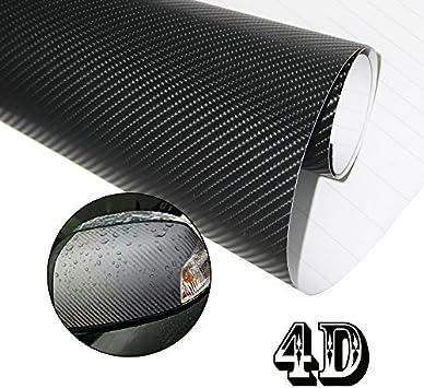 HTINAC 4D Coche Fibra de Carbono, Adhesiva Fibra de Carbono Vinilo Impermeable para la Decoración Interior de Coche 152 X 30cm: Amazon.es: Electrónica