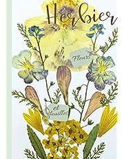 Herbier: Carnet herbier | fiches pour la récolte de fleurs plantes et feuilles séchées | carnet mon herbier enfants et adultes | pour répertorier votre collection nature | complète un kit herbier et presse fleurs | livre herbier avec planches à remplir