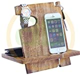 AB Handictafts - Mango Wooden Android Docking Station, 50th Anniversary Gifts for Couple , Funny Fathers Day Gifts, iPhone 6s plus, 6s, 6 plus, 6, 5, 5s, 4, Samsung Galaxy (For Daily Use)