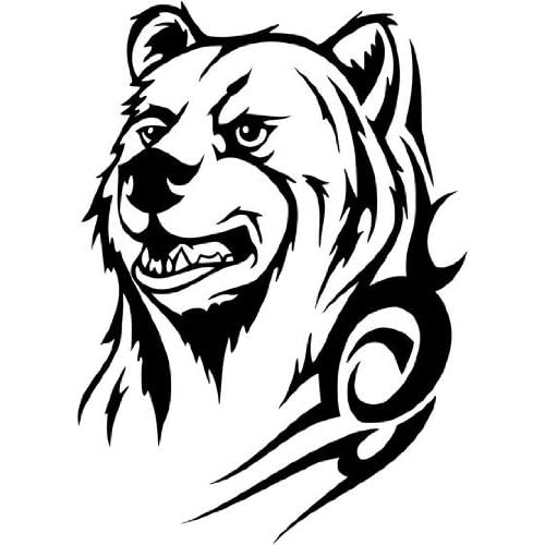 Amazon.com: Tribal Bear face with tattoo, Vinyl Sticker ...