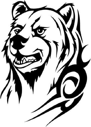 Amazoncom Tribal Bear Face With Tattoo Vinyl Sticker Wall Art