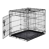 AmazonBasics Single Door Folding Metal Cage Crate For Dog or Puppy - 24 x 18 x 20 Inches