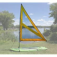 NEW! Spirit Large Paddle Board Sail Kit (Orange) with Telescoping Mast and Boom - Compact, Portable, Easy to set up design!