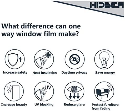 home, kitchen, home décor, window treatments, window stickers, films,  window films 2 picture HIDBEA One Way Mirror Window Privacy Film with promotion