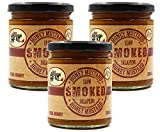Slow Smoked Jalapeno Honey Mustard - Sauce, Dressing, Pretzel Dip - Hot & Spicy - 3 Pack by Just Enough Heat