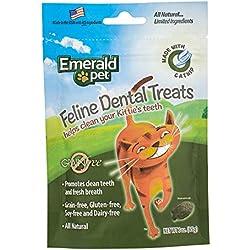 Emerald Pet Grain Free Catnip All Natural Feline Dental Treats For Cats, 3-Ounce