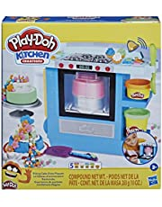 Play-Doh Kitchen Creations Rising Cake Oven Bakery Playset for Kids 3 Years and Up with 5 Modeling Compound Colors, Non-Toxic