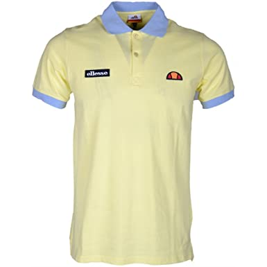 ellesse - Polo - para hombre amarillo Lemonade Small: Amazon.es ...