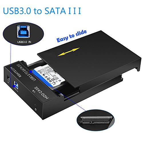RSHTECH Hard Drive Enclosure USB 3.0 to External Hard Drive Docking Station for 2.5inch/ 3.5inch SATA I/II/III /HDD or SSD Case Support UASP & 8TB Drives (Black) by RSHTECH (Image #1)