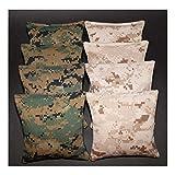 8 All Weather USMC Camo US Marine Corps Military Camouflage Resin Cornhole Bags - Hand Made