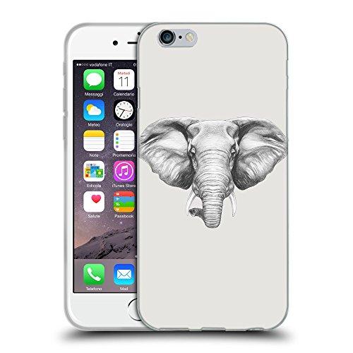 """GoGoMobile Coque de Protection TPU Silicone Case pour // Q05130631 Dessin éléphant Platine // Apple iPhone 6 4.7"""""""