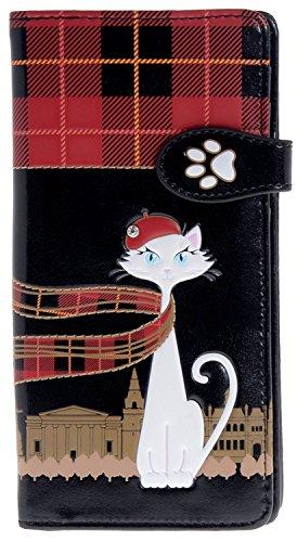 Shag Wear Women's Large Wallet With Zipper Pocket Scottish Cat - Scottish Cat