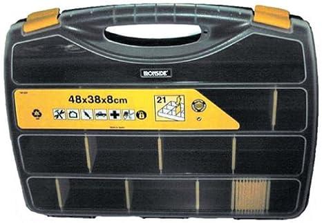 Ironside - Caja de herramientas (PVC, 21 compartimentos, 48 x 38 x ...