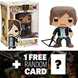 Walking Dead Biker Daryl (Preview Exclusive): Funko POP! x Vinyl Figure + 1 Free Official Trading Card Bundle [37055]