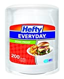 Hefty Everyday Foam Plates (White, Soak Proof, 9-inch, 200 Count)