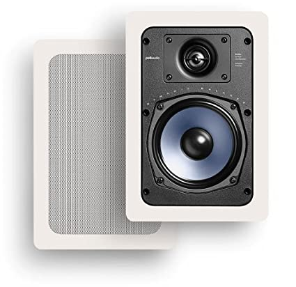 Polk Audio RC85i 2-Way In-Wall Speakers (Pair, White) Powersports AW0085-A