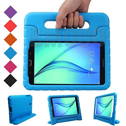 BMOUO Samsung Galaxy Tab A 8.0 (2015) Kids Case - EVA ShockProof Case Light Weight Kids Case Super Protection Cover Handle Stand Case for Kids Children for Samsung Galaxy TabA 8-inch Tablet - Blue (Samsung Galaxy Tablet Case 8 Inch)