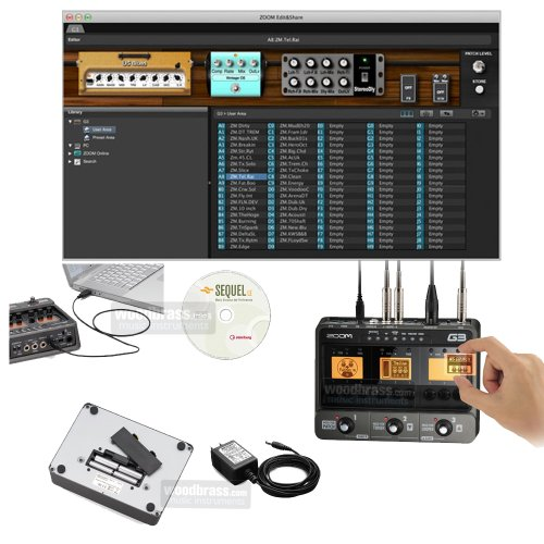 zoom g3x guitar effects and amp simulator buy online in uae electronics products in the uae. Black Bedroom Furniture Sets. Home Design Ideas