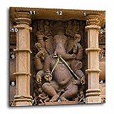 3dRose Danita Delimont - Temples - India. Hindu temples at Khajuraho, elephant deity carving. - 13x13 Wall Clock (dpp_276793_2)