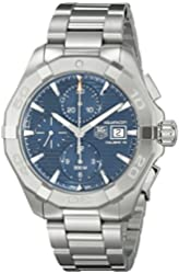 Tag Heuer Men's CAY2112.BA0925 300 Aquaracer Blue Dial Stainless Steel Watch