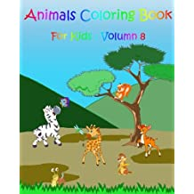 Coloring Books For Kids : Animals: Stress Relief Coloring Book
