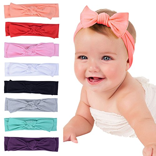 Mookiraer Newest Baby Headbands Turban Knotted, Girl's Hairbands for Newborn Childrens Cute Baby Headbands
