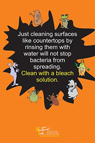 Food Safety Instead of Water Bleach Solution to Clean Counte