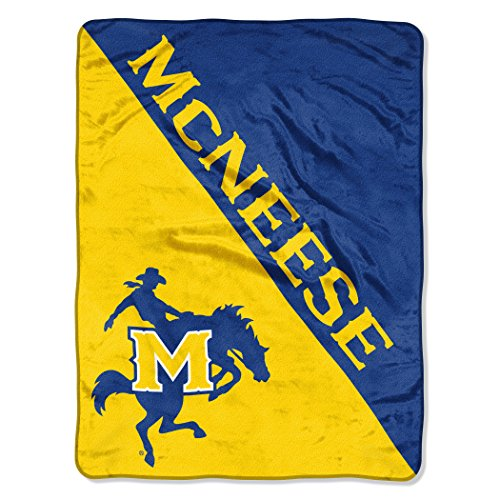 The Northwest Company Officially Licensed NCAA Mcneese State Cowboys Halftone Micro Raschel Throw Blanket, 46