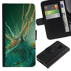 JackGot ( Batteri Macro ) Samsung Galaxy S5 V SM-G900 la tarjeta de Crédito Slots PU Funda de cuero Monedero caso cubierta de piel