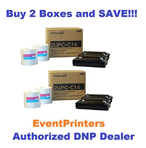 TWO BOXES OF 2UPC-C14 Print Pack for the Sony SnapLab Photo Printer - 4''x 6'' media kit for Sony Snaplab UP-CR10L, Sony UP-CX1 and DNP DS-SL10. by DNP