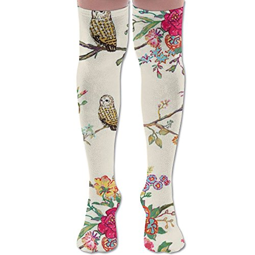 Owls Women Knee High Socks High Thigh Stockings Over Knee High Boots Long Socks For Girls