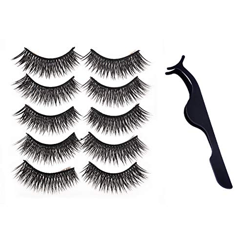 Lady UP False Eyelashes Extension, 3D Volume Fake Eyelash Dramatic Look Lashes Perfect Make Up for Womens Party and Daily