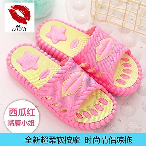 Pantofole bagno da freddo estate bagno cocomero soggiorno rosso eleganti indoor pantofole a anti slip 39 spiaggia di fankou in maschio scarpe coppie casa le f0dAc6HfW