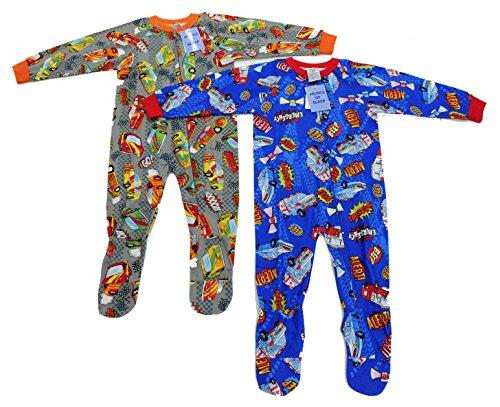 95558B-2T Prince of Sleep Footed Pajamas / Blanket Sleepers (Pack of 2)