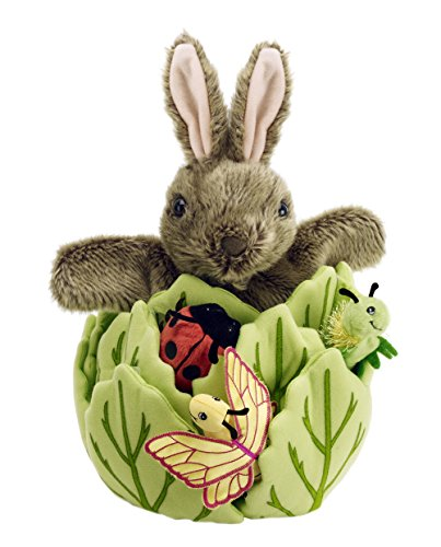 The Puppet Company Hide-Away Puppets Rabbit in a Lettuce (with 3 Mini Beasts)