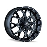 Mayhem Warrior 17 Black Milled Wheel / Rim 5x5 & 5x5.5 with a 18mm Offset and a 87 Hub Bore. Partnumber 8015-7952M18